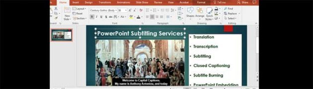 Subtitling Services for PowerPoint Presentations
