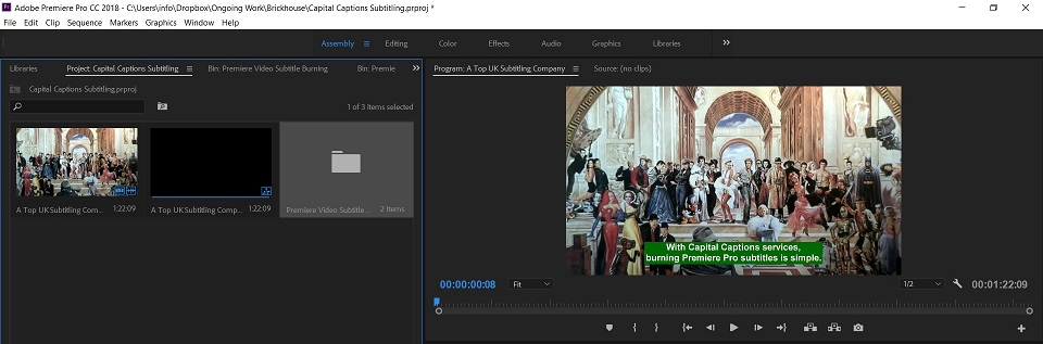 Captioning and Subtitling in Premiere Pro CC - Capital Captions